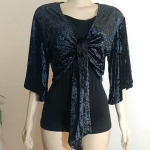 Luxe Crushed Velvet Tie Front Cardigan 🆕